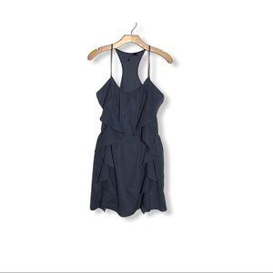 Dusty Blue Ruffle Racerback Dress